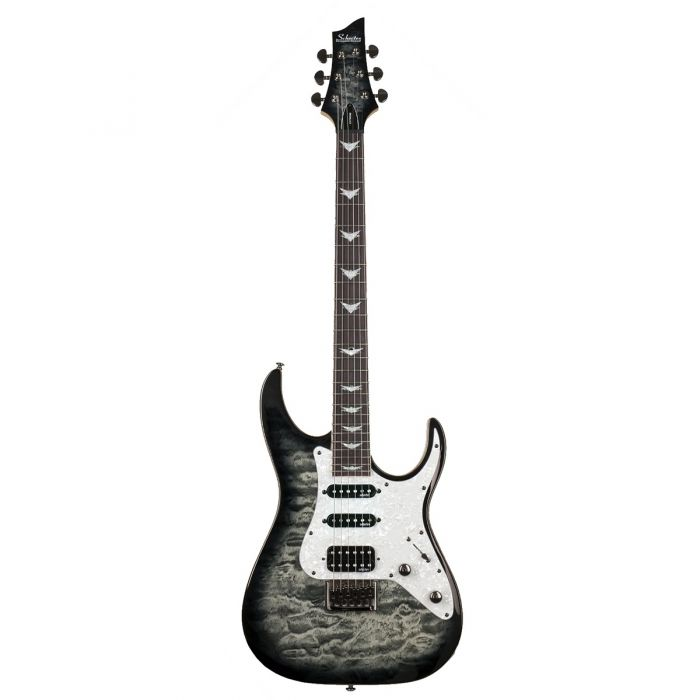 Schecter Banshee-6 Extreme Charcoal Burst Full Front