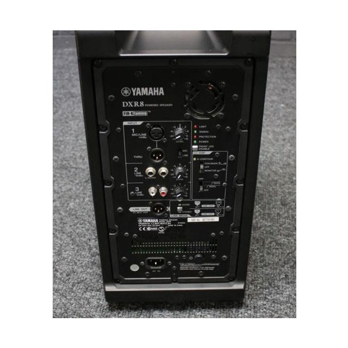 B Stock Yamaha DXR8 Active PA Speaker Rear View