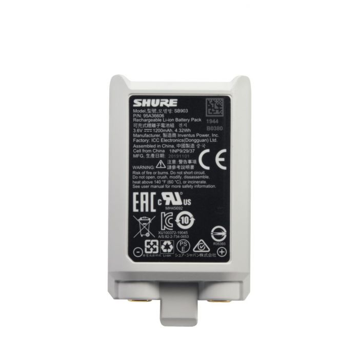 Shure SB903 Rechargeable Lithium-ion Battery for SLX-D