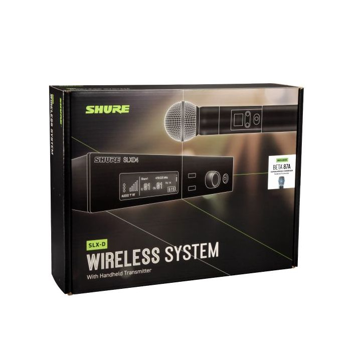 Shure SLX-D Wireless System with Beta 87A Handheld Microphone Pasckage