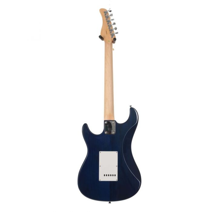 Eastcoast GS100H Deluxe Electric Guitar Trans Blue Burst Rear View