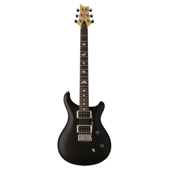 Full frontal view of a PRS Ltd Edition CE24 Standard Satin Charcoal