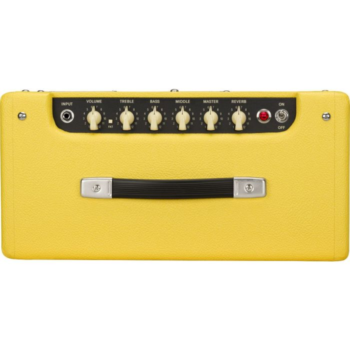 Top of Fender 2020 Limited Edition Blues Junior IV Combo Guitar Amp Graffiti Yellow