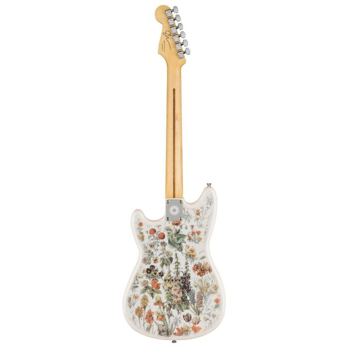 Full rear view of a Fender Shawn Mendes Signature Musicmaster Floral