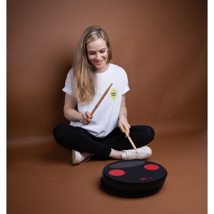 Meinl Split Tone Practice Pad Being Played by Anika Nilles