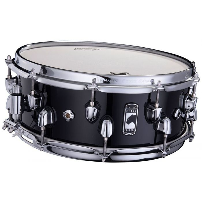 Front-tilted view of a Mapex Black Panther Nucleus Snare
