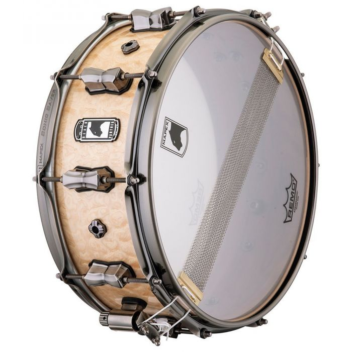 View of the underside on a Mapex Black Panther Pegasus Snare