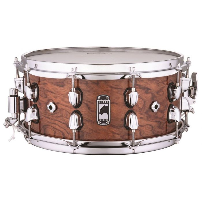 Full view of a Mapex Black Panther Shadow Snare