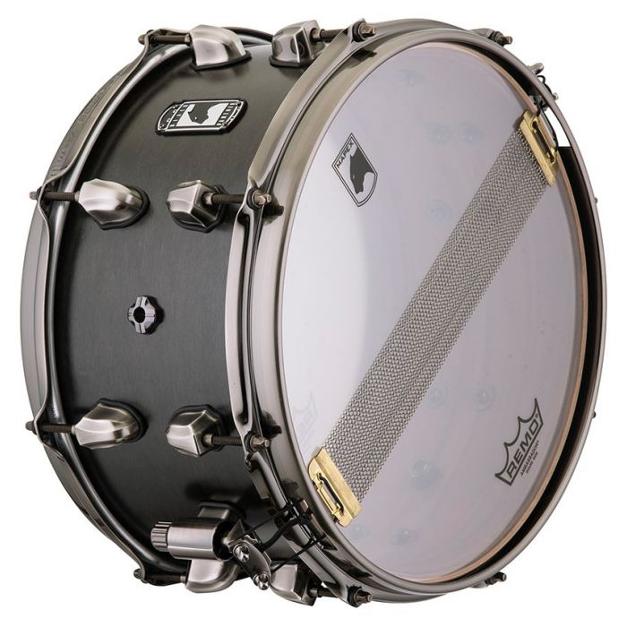 view of the bottom head on a Mapex Black Panther Hydro Snare