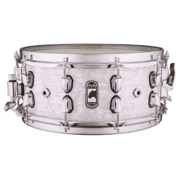 Full view of a Mapex Black Panther Heritage Maple Shell Snare