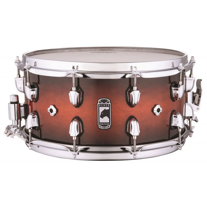 Full view of a Mapex Black Panther Solidus Maple Shell Snare