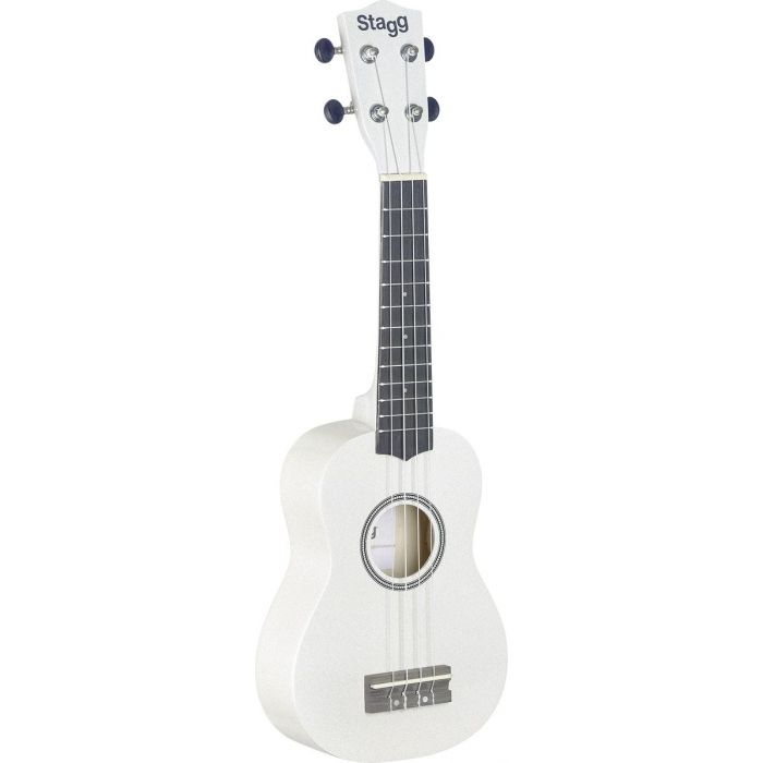 Stagg Soprano Ukulele White with Bag Full Front View