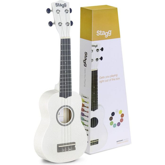 Stagg Soprano Ukulele White with Bag With Box