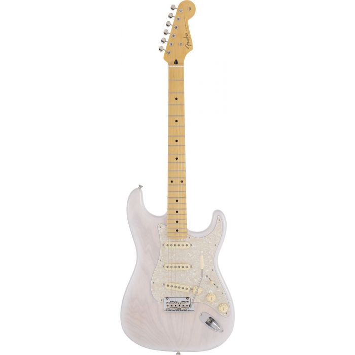 Full frontal view of a Fender MIJ Limited Collection Stratocaster MN White Blonde