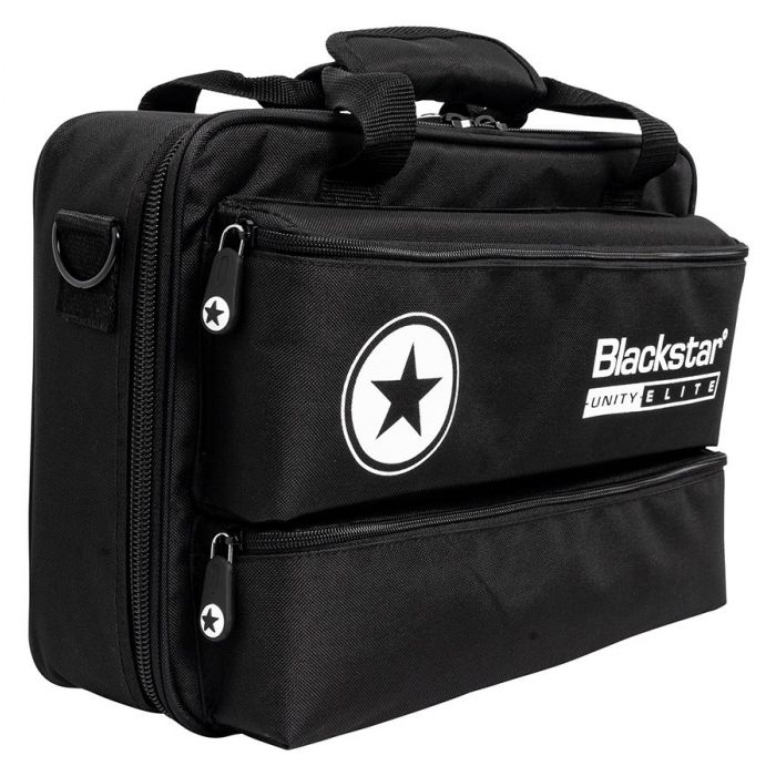 Front right angled view of a Blackstar Unity 700H Elite 700w Bass Head gig bag
