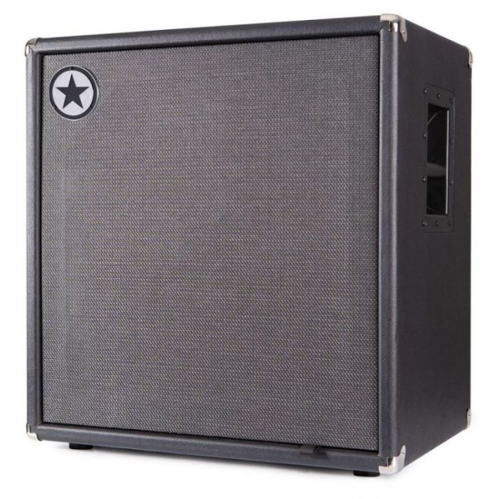 Front right-angled view of a Blackstar Unity 410C Elite 4 x 10 Passive Bass Cabinet