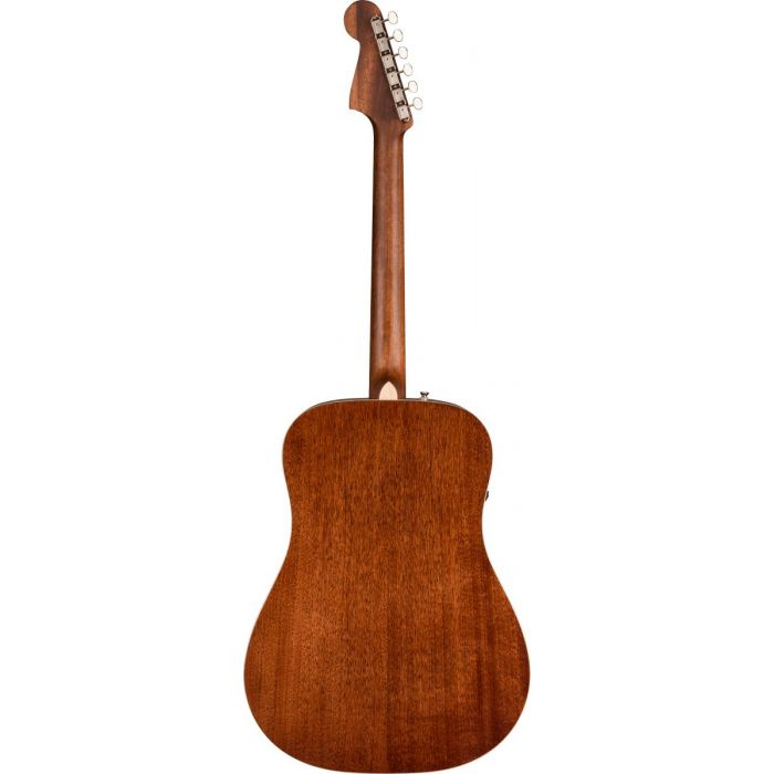 Back of Fender Redondo Classic Aged Cognac Burst Electro-Acoustic Guitar