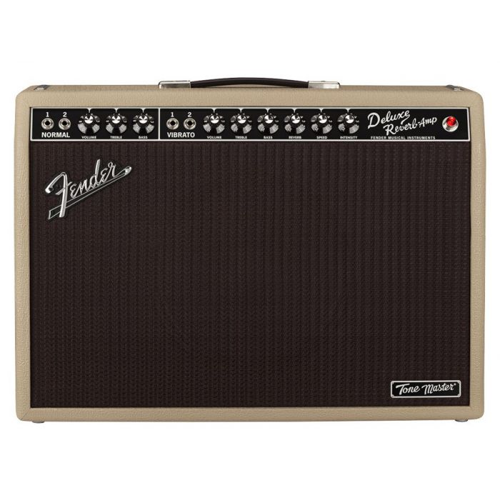 Full frontal view of a Fender Limited Edition Tone Master Deluxe Reverb Blonde