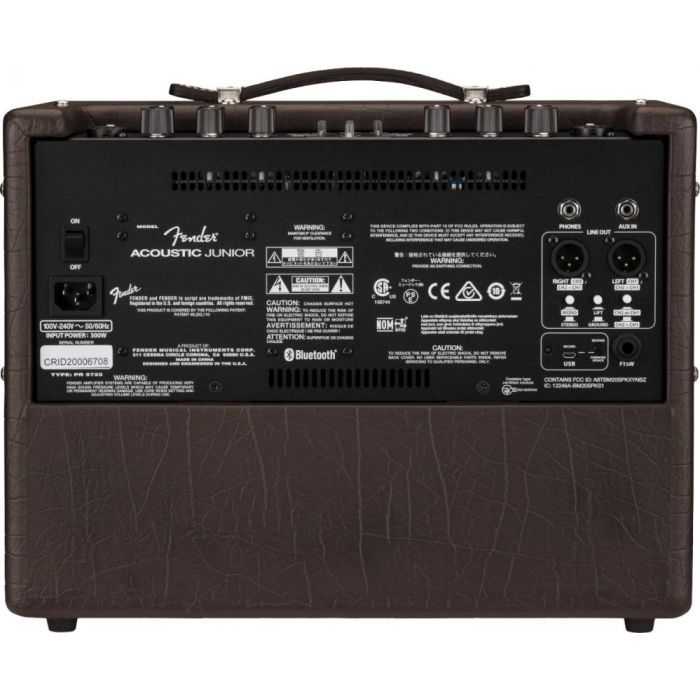 Full rear view of a Fender Acoustic Junior Guitar Amplifier