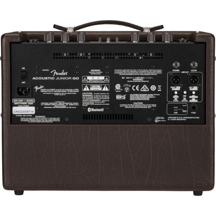 Full rear view of a Fender Acoustic Junior GO Acoustic Guitar Amplifier