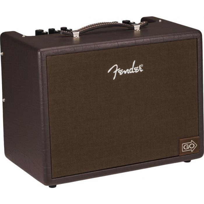 Front angled view of a Fender Acoustic Junior GO Acoustic Guitar Amplifier