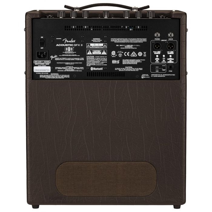 Full rear view of a Fender Acoustic SFX II Acoustic Guitar Amplifier