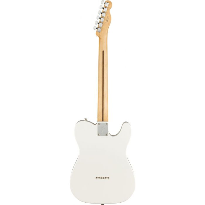 Full rear view of a Fender Player Telecaster LH PF Polar White