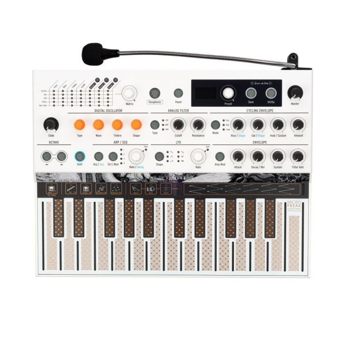 Top Down View of Arturia MicroFreak Vocoder Edition Synthesizer