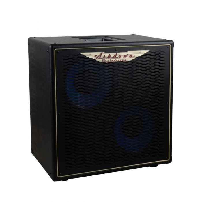 Front right angled view of a Ashdown ABM-210H-EVO IV-Pro Neo Bass Cabinet