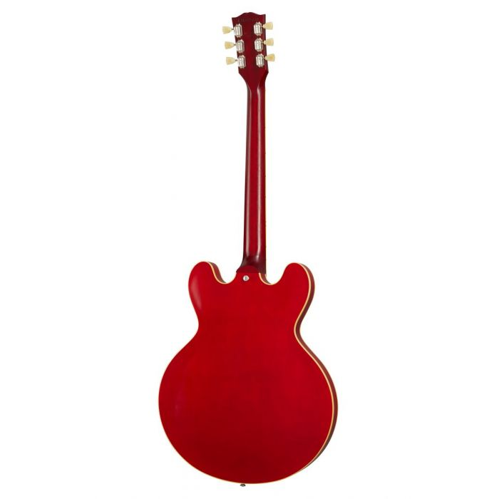 Back of Gibson ES-335 Satin Cherry Semi-Acoustic Guitar