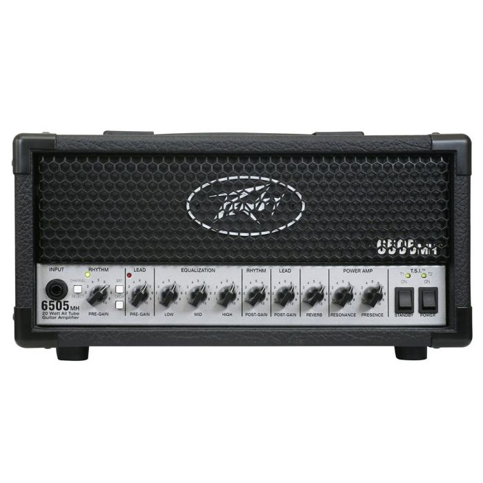 Front panel view of a Peavey 6505 Micro Head Guitar Amplifier