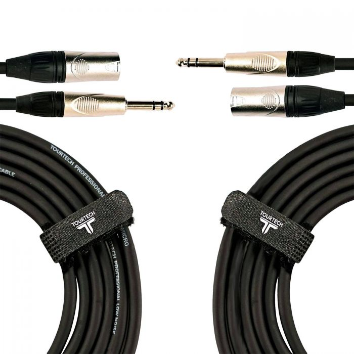 Two Premium Stereo Jack to XLR Cables