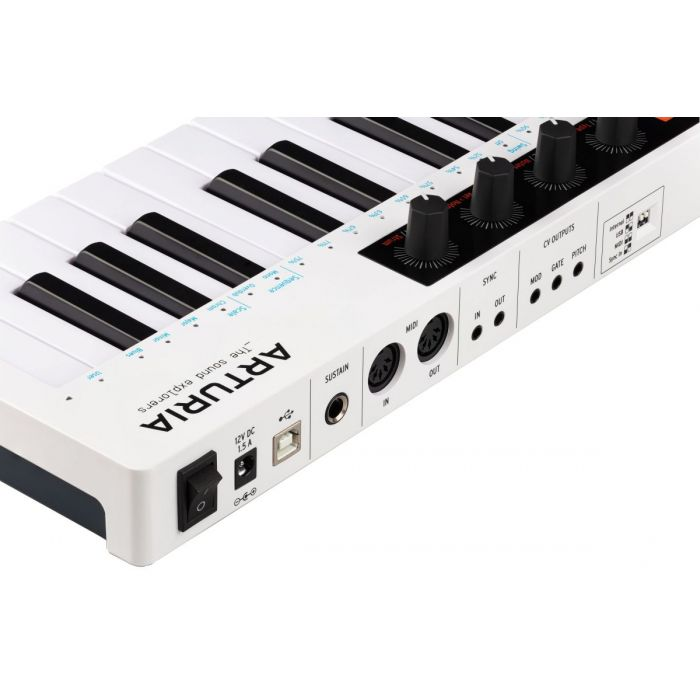 Rear Angled View of Arturia Keystep 37 MIDI Controller