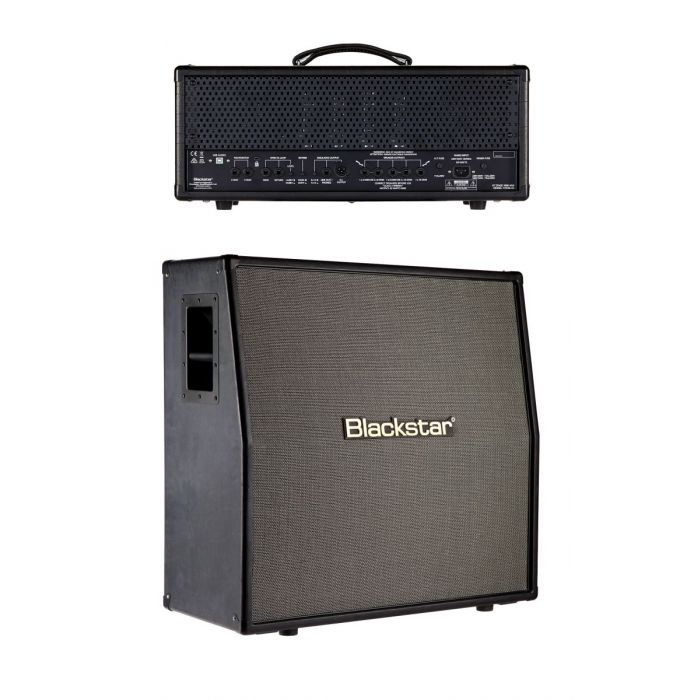 Rear View of Blackstar HT Stage 100 MkII Valve Amp Head with HTV-412 Mk2 Speaker Cab
