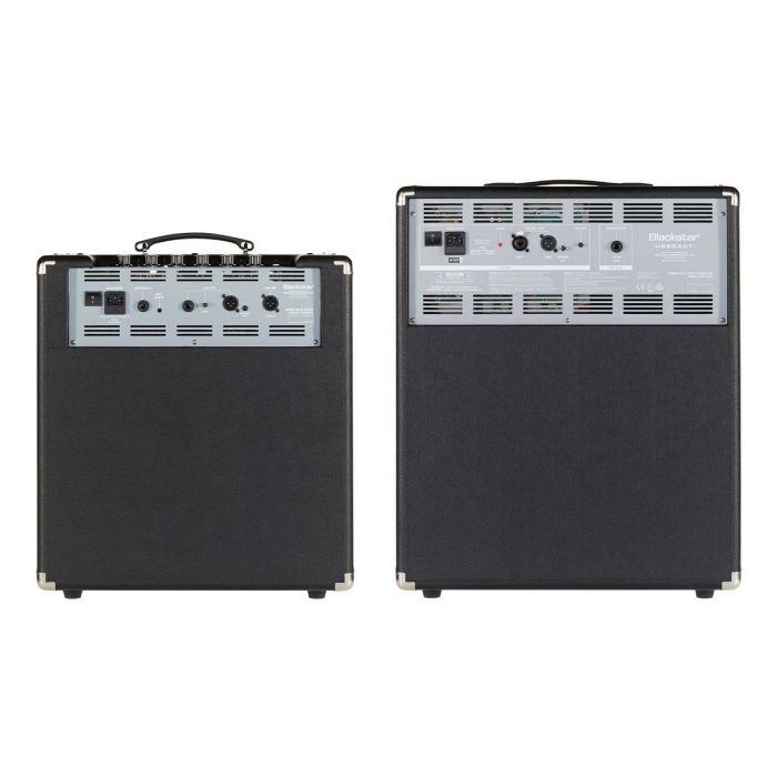 Rear View of Blackstar Unity 120 Bass Amp and Unity 250 Active Cabinet