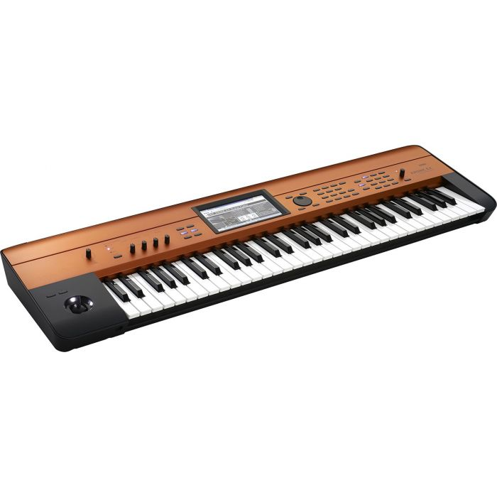 Right angled view of a KORG Limited Edition Krome 61 EX Copper