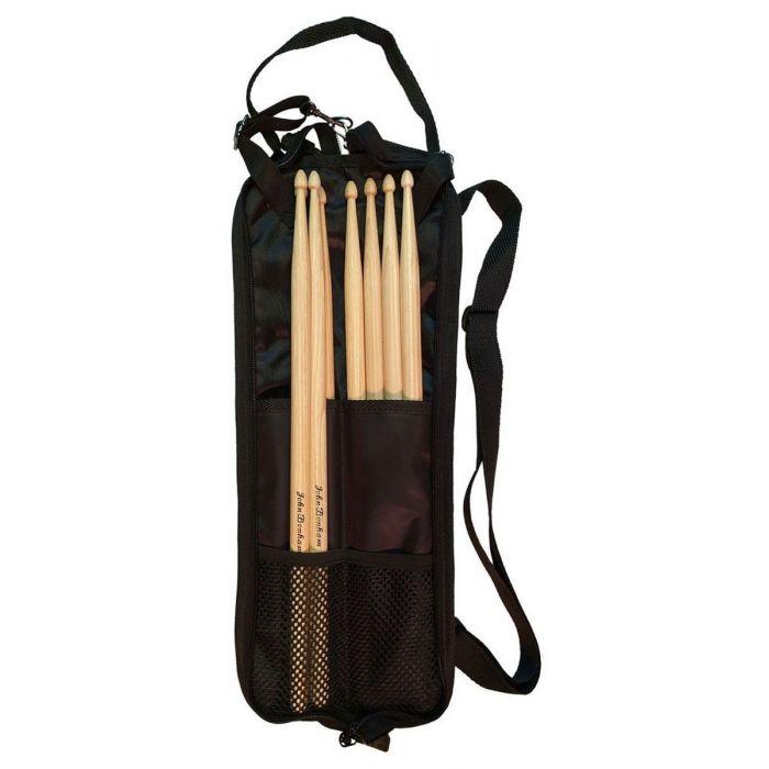 Full view of an open Promuco John Bonham Stick Bag