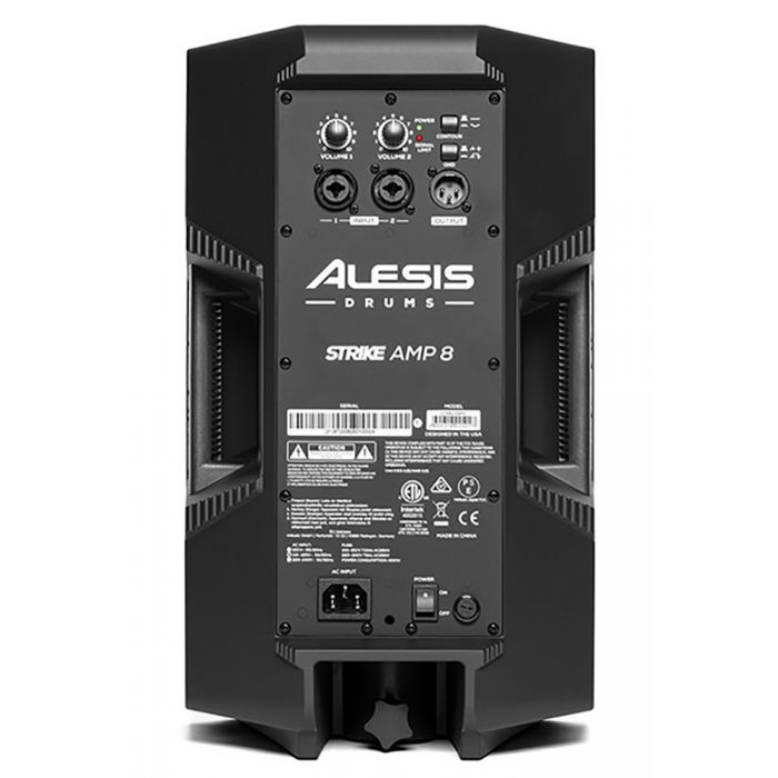 Rear view of a Alesis Strike Amp 8 Powered Drum Amplifier