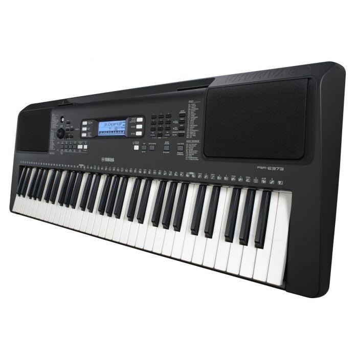 Side Angled View of Yamaha PSR-E373 Portable Keyboard