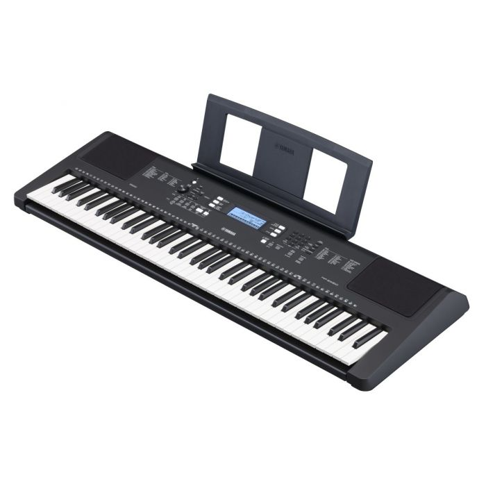 Angled View of Yamaha PSR-EW310 Portable Keyboard with Music Rest