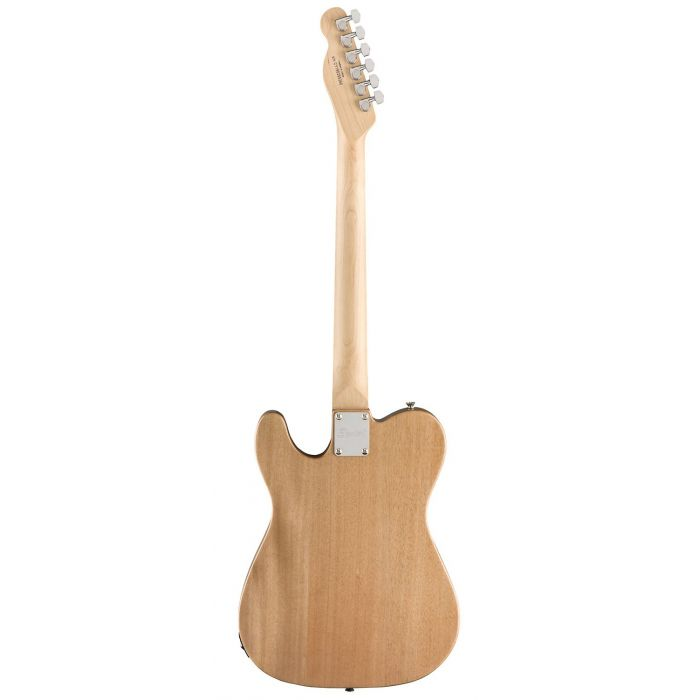 Full rear view of a Squier FSR Affinity Series Telecaster, Natural