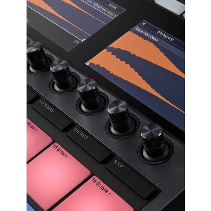 Closer View of Native Instruments MASCHINE+ Standalone Groovebox