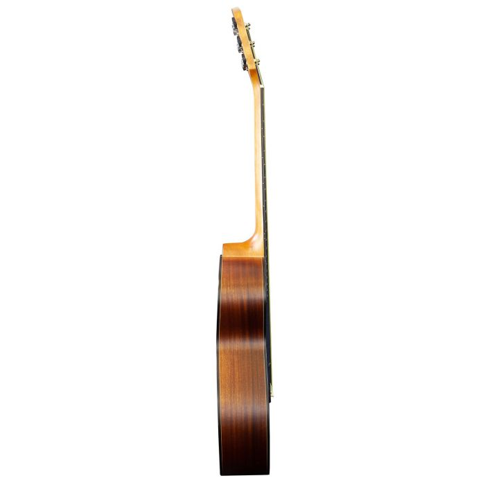 Side-on view of a Brunswick Grand Auditorium Tobacco Burst Satin