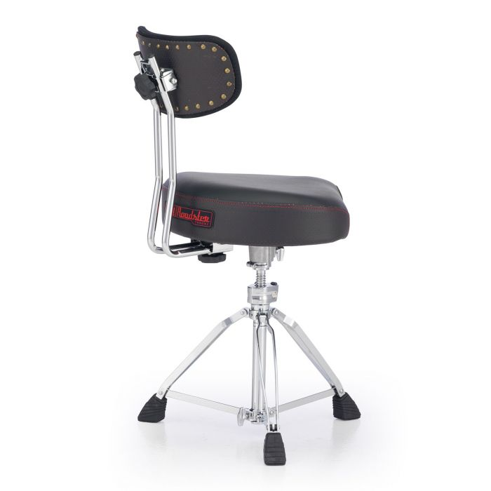 Full view of a Pearl Roadster Multi-Core Saddle Drum Throne with Backrest