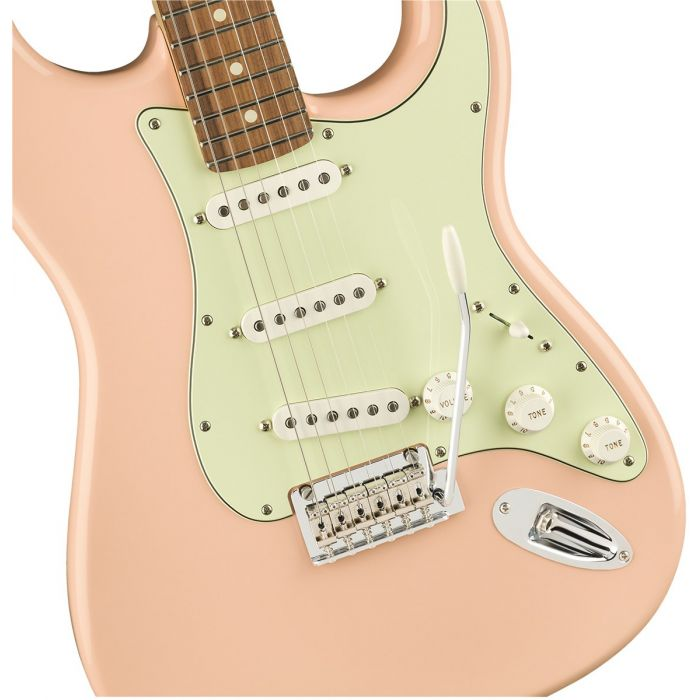 Fender Limited Edition Player Stratocaster Shell Pink Body Detail