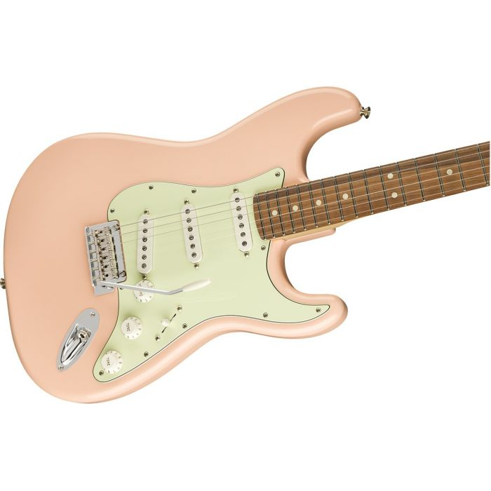 Fender Limited Edition Player Stratocaster Shell Pink Body Detail Side