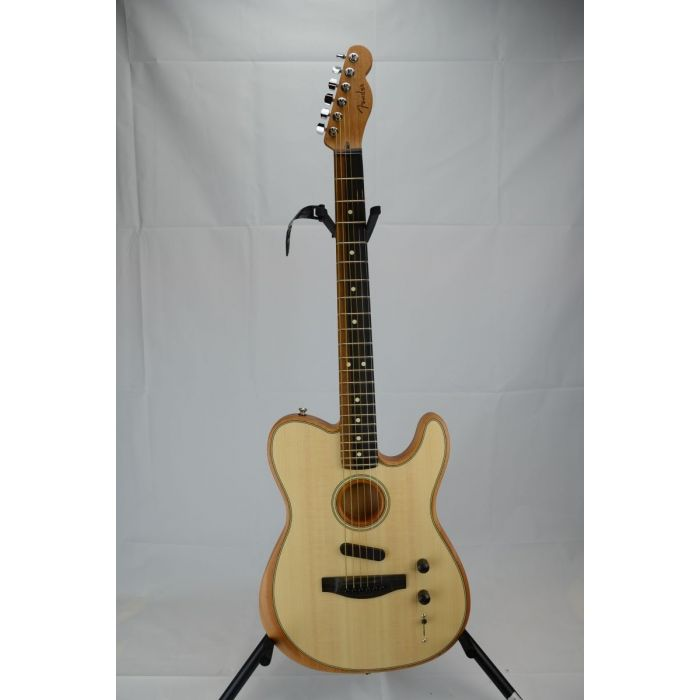 Full frontal view of a B Stock Fender American Acoustasonic Telecaster Natural