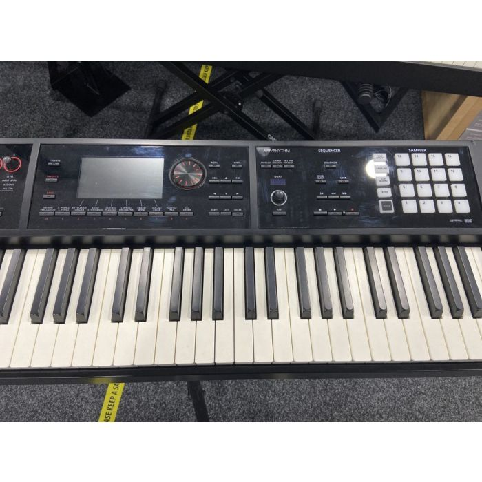 Top-down view of a B Stock Roland Fantom FA-08 Music Synthesizer Workstation