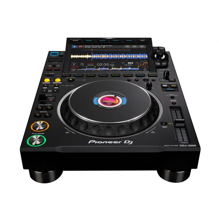 Front Angled View of Pioneer CDJ-3000 DJ Media Player