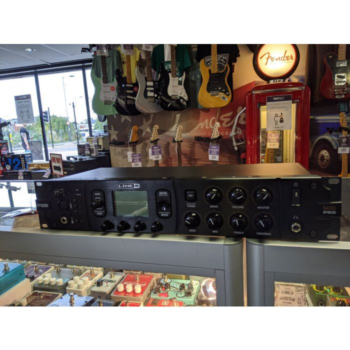 Full frontal view of a Pre-Loved Line 6 Pod HD Pro Rack Mount